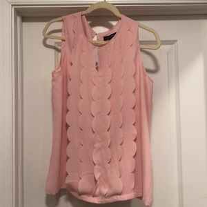 Banana Republic scalloped pink shirt- M, NWT